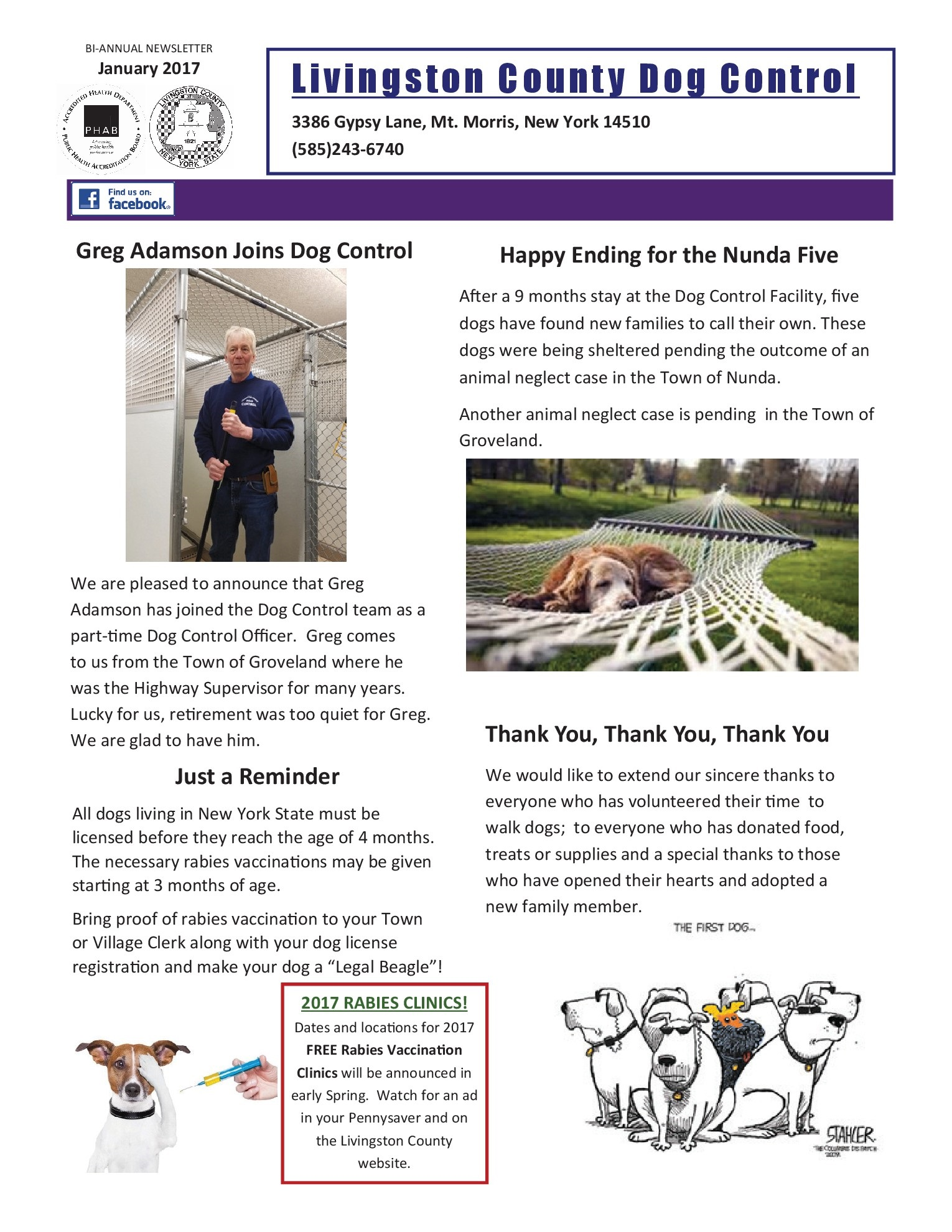 Dog Control   Livingston County, NY - Official Website