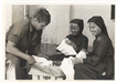 Image of soldier with Vietnamese nuns, Sister Beatrice in center
