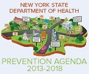 The prevention agenda logo and a link to our data