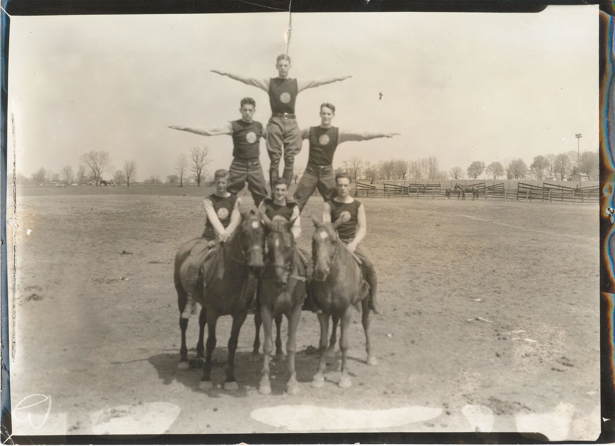 Photo of Troop I men on horseback