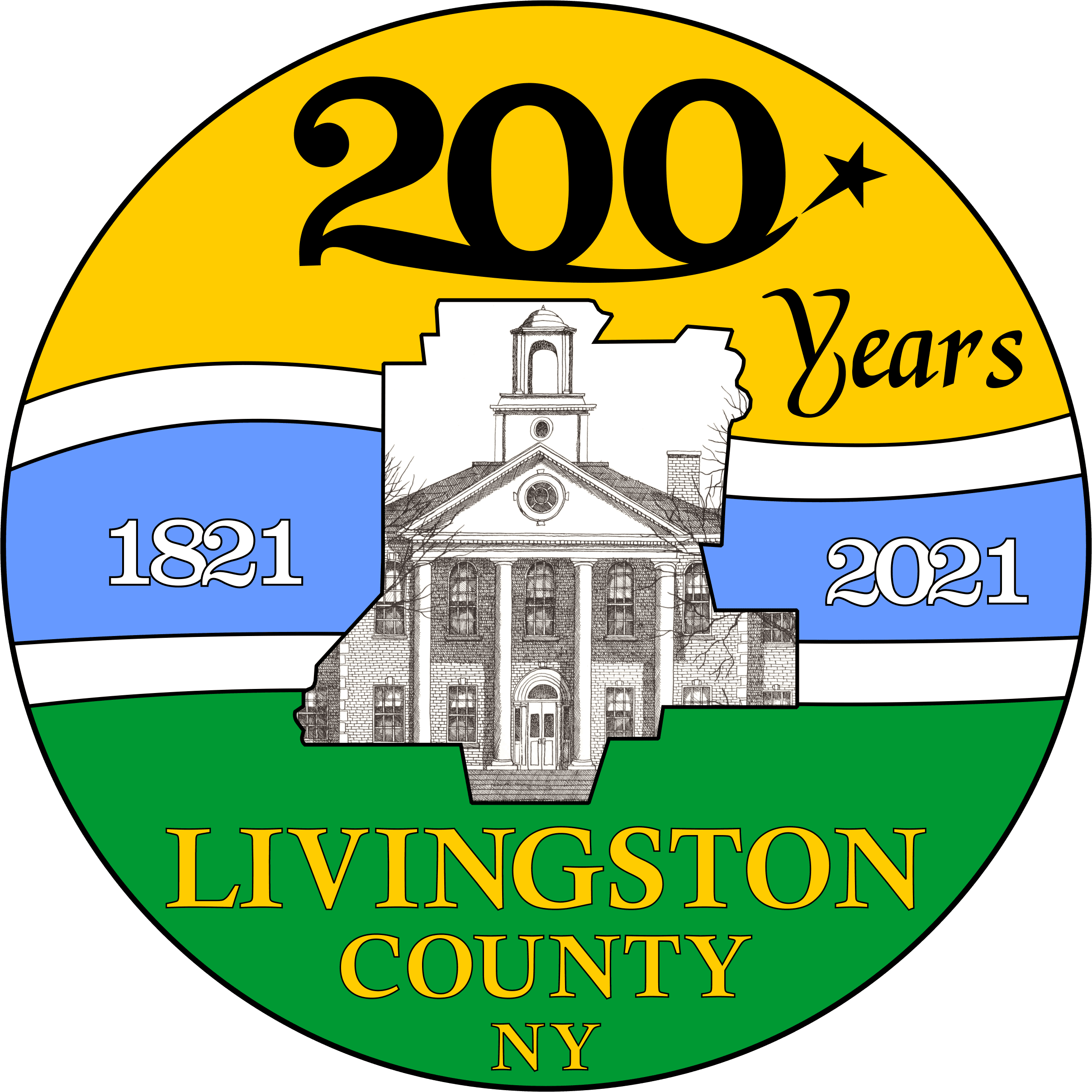 Livingston County Bicentennial Seal