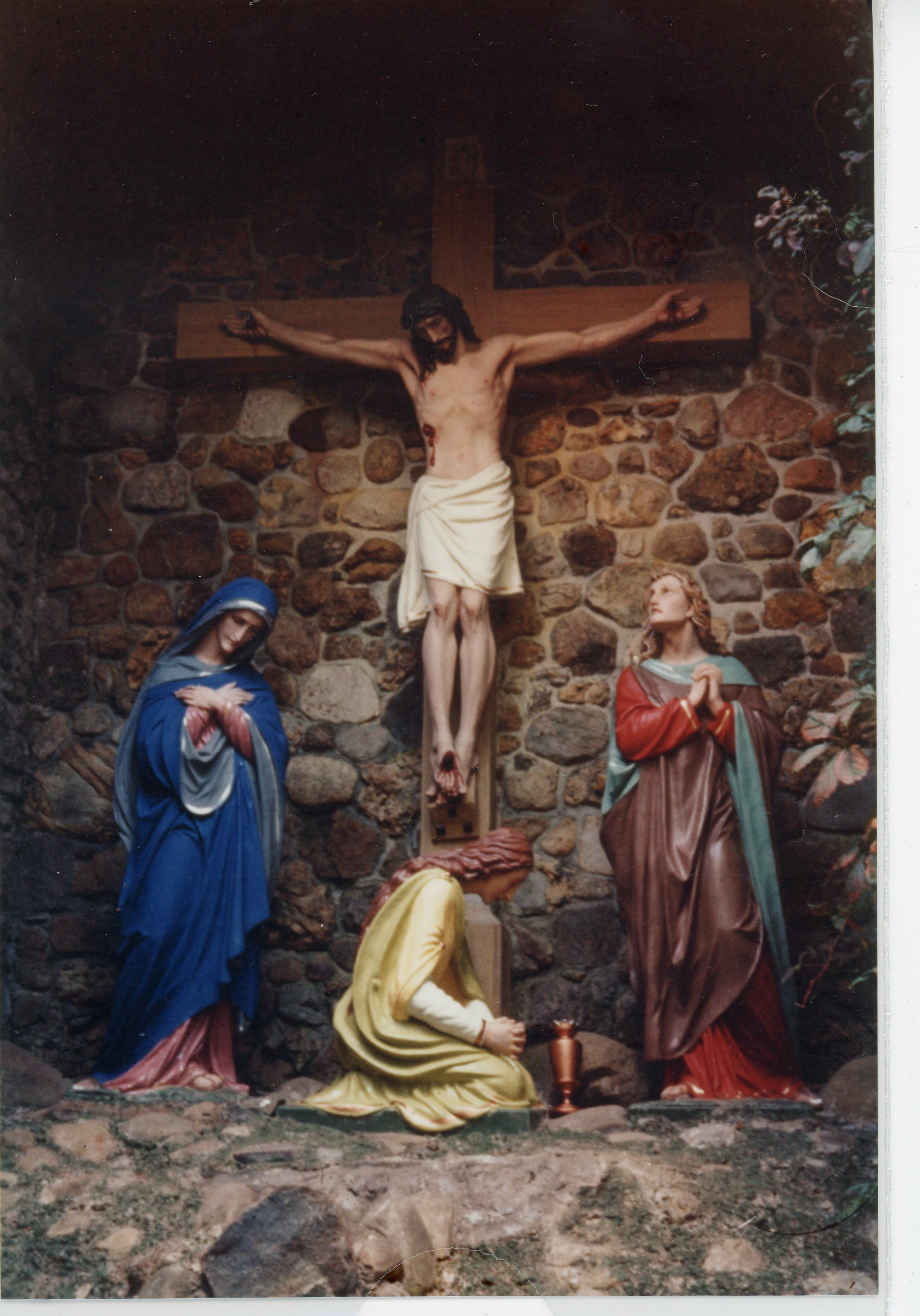 Image of religious statues in Grotto at St. Michael's Mission