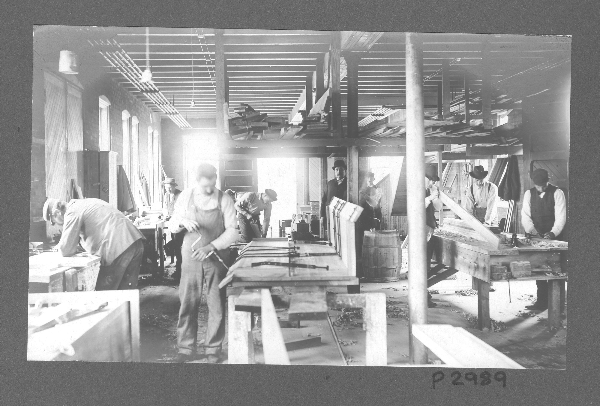 Image of men working in woodshop at Craig Colony