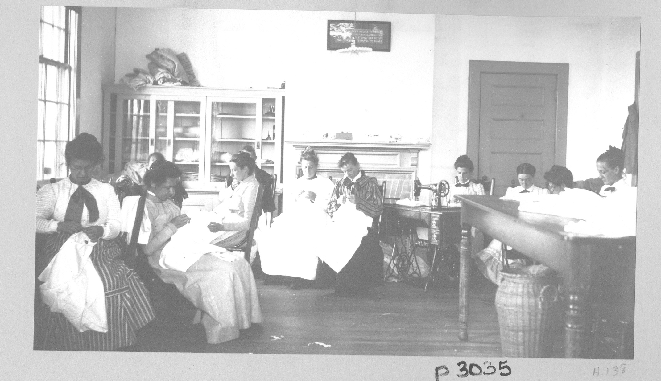 Image of women sewing in room at Craig Colony