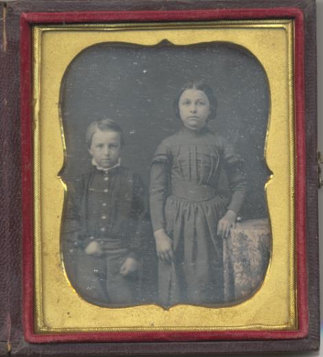 Portrat of two children, Dwight and Mary Reed