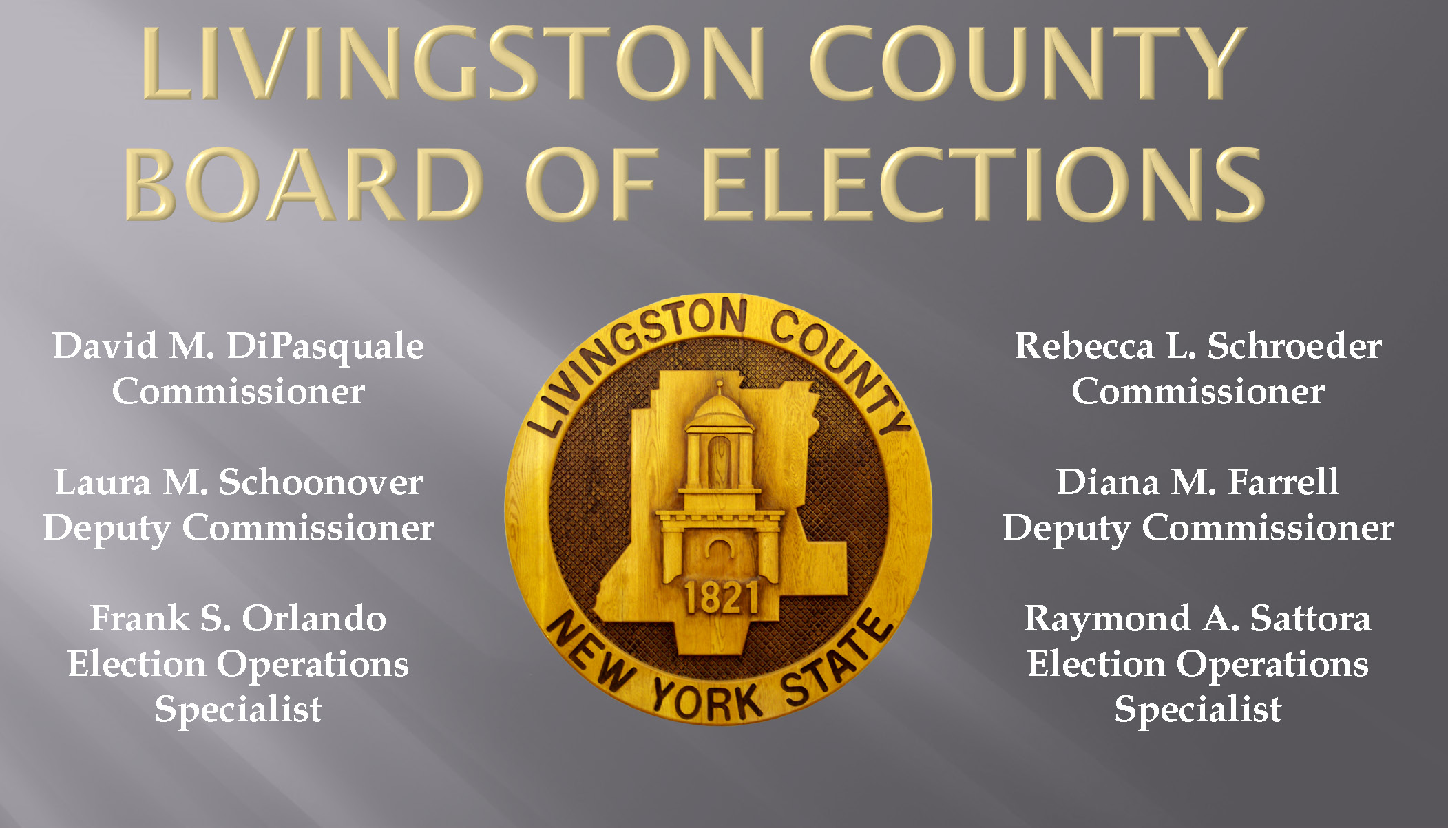 Livingston County, NY - Official Website - Board of Elections