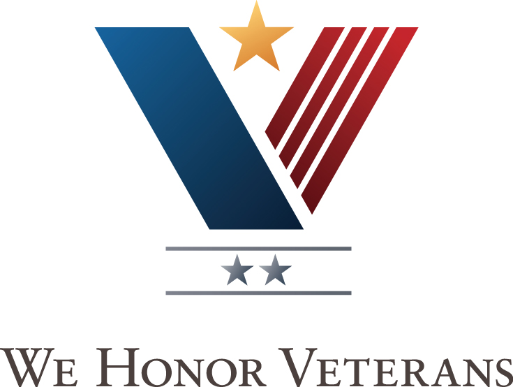 The We Honor Veterans logo
